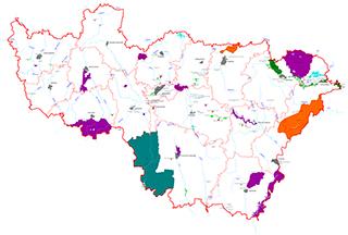 Карта ООПТ Владимирской области